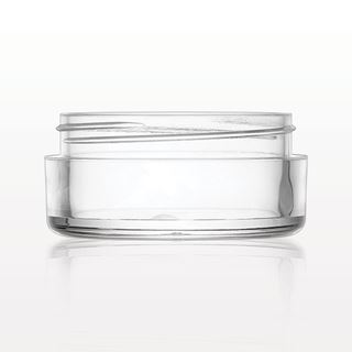 Single Threaded Stackable Base Jar, Clear - 30074