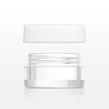Jar, Clear and Lined Threaded Cap, White - 30081 - 30082