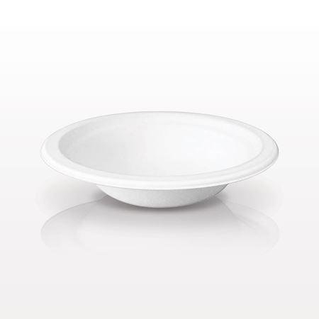 Biodegradable Sugarcane Mixing Bowl, White - 10250