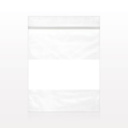 Zipper Bag with Writeable Panel - 11332