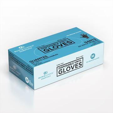 Olivia Garden® Essentials™ Vinyl Gloves, Powder-Free, Latex-Free, Black - 10152