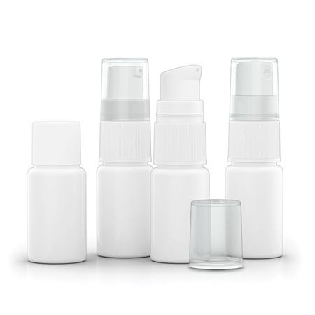 10 ml HDPE Bottle, White with Interchangeable Caps - 502223 - 502224 - 502225 - 502226 - 502227