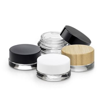 5 gram Low Profile Glass Jar with Threaded Caps - 74267 - 74268 - 74269 - 74270 - 74286