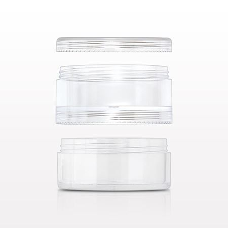 Threaded Stackable Jars and Cap - 29533 - 29534 - 29535