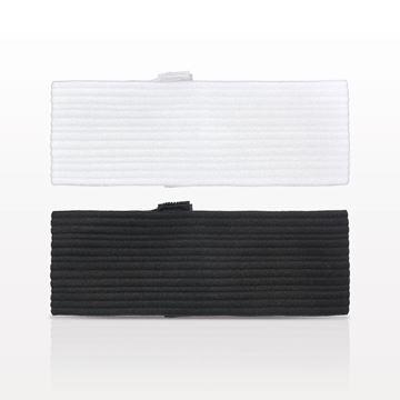 Disposable Stretch Headband with Velcro® Closure, Black, White - 505619 - 505620