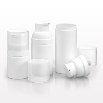 Airless Pump and Bottles, White - 10150 - 10151 - 10153 - 10155