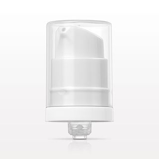 Airless Lotion Pump, White with Overcap, Natural for 10124, 10125 - 10123