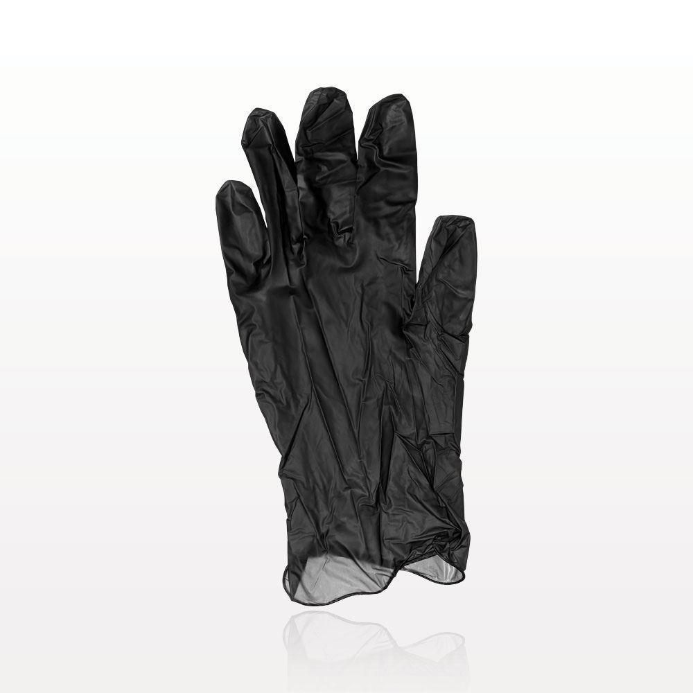 Olivia Garden® Essentials™ Vinyl Gloves, Powder-Free, Latex-Free, Black