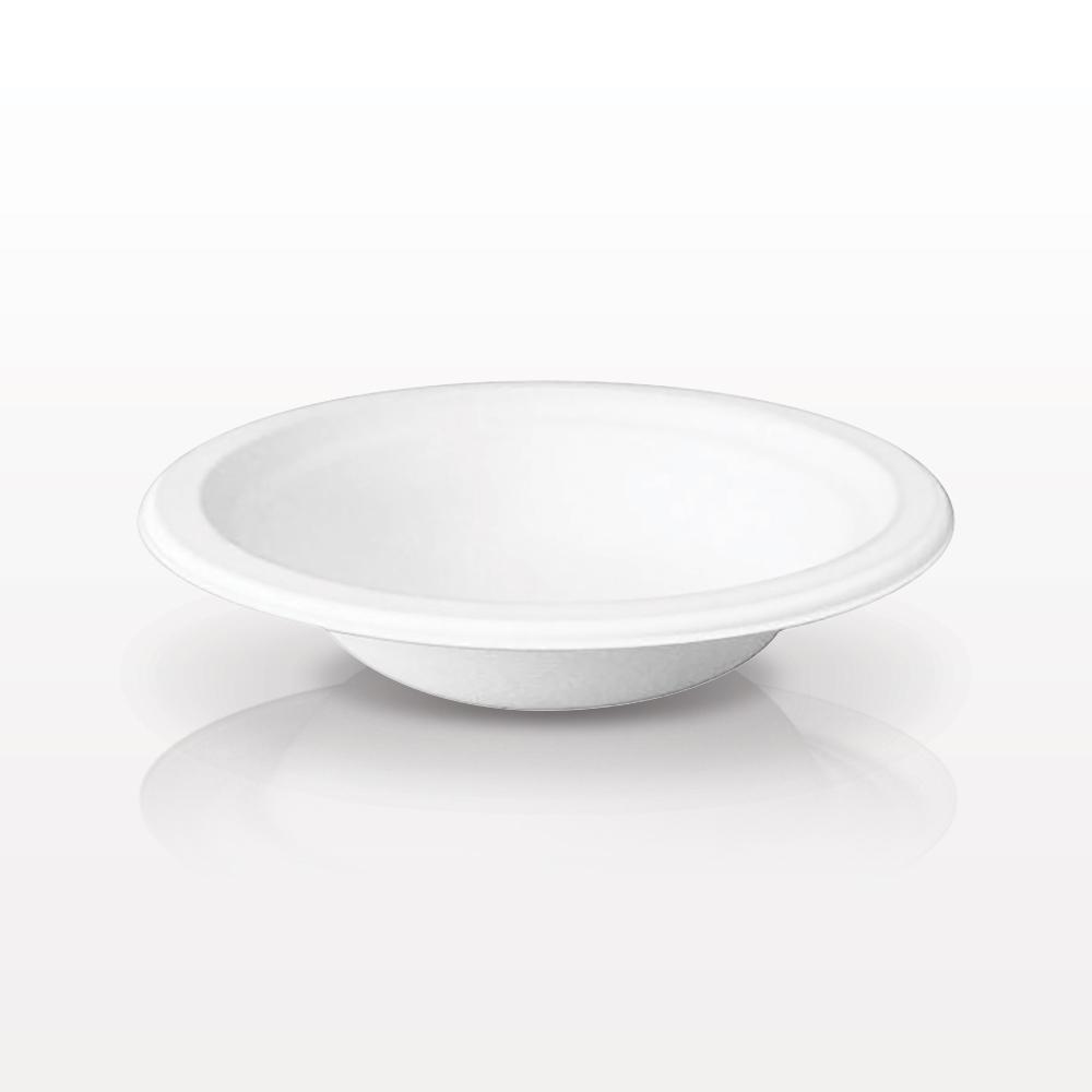 Biodegradable Sugarcane Mixing Bowl, White