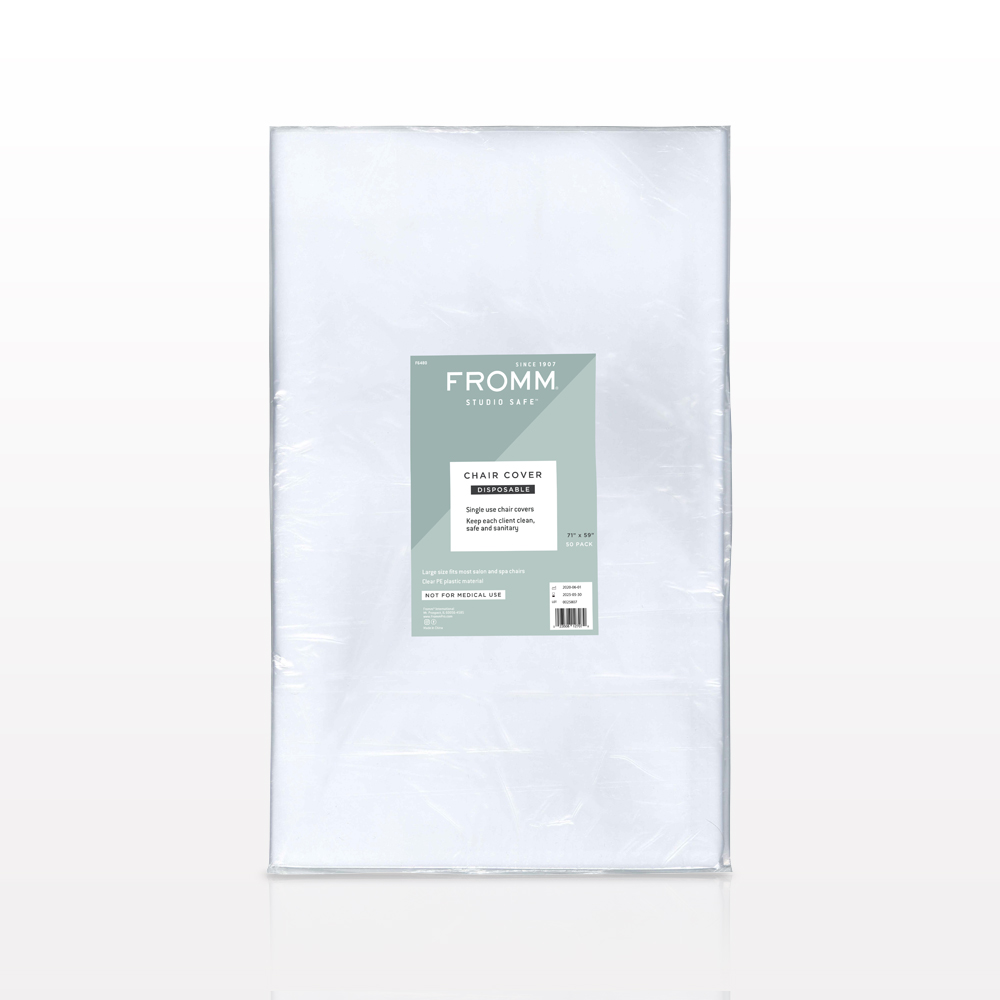 FROMM® Studio Safe™ Disposable Salon Chair Cover, Clear