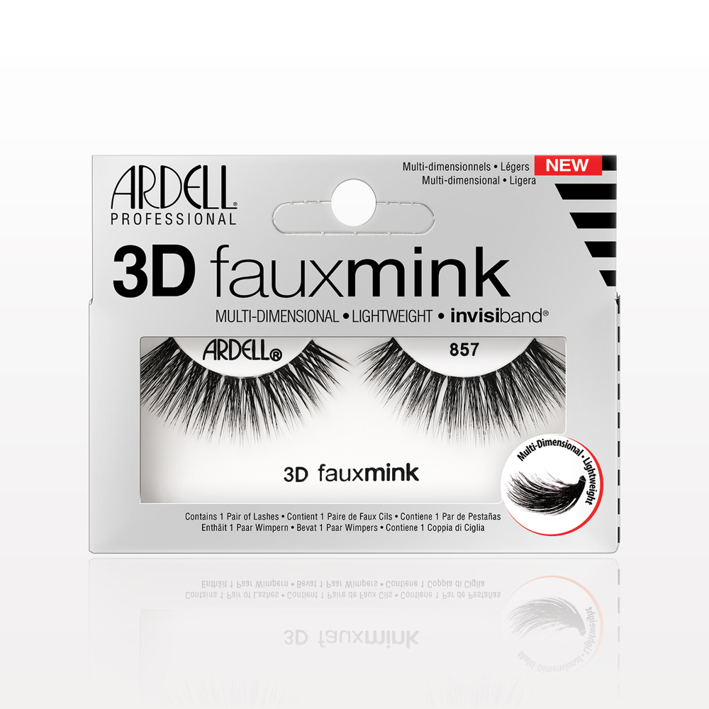 Ardell® Professional 3D Faux Mink with Invisiband® 857, Black
