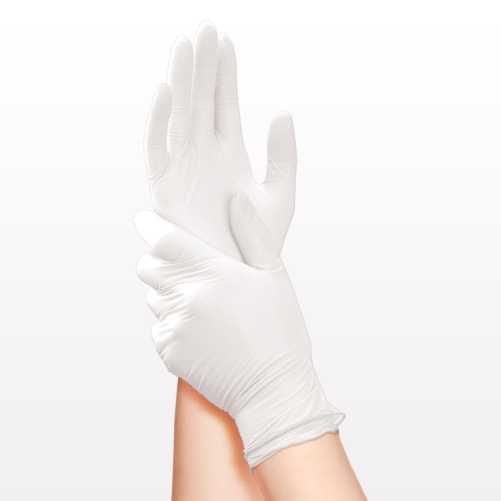 BioGrip™ Nitrile Gloves, Powder-Free, White
