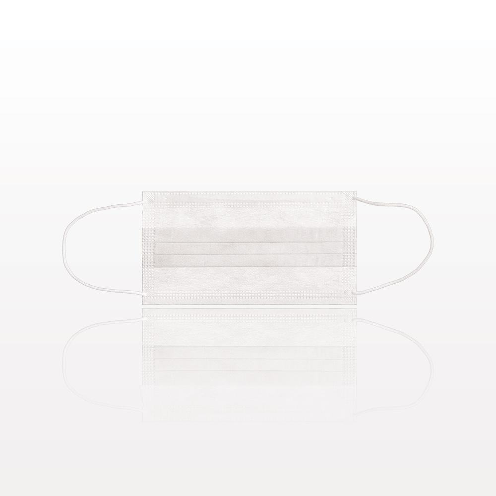 Medical-Grade, 3-Ply Ear Loop Face Mask, White