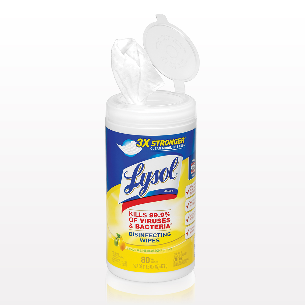 Lysol® Disinfecting Wipes, Lemon & Lime Blossom® Scent