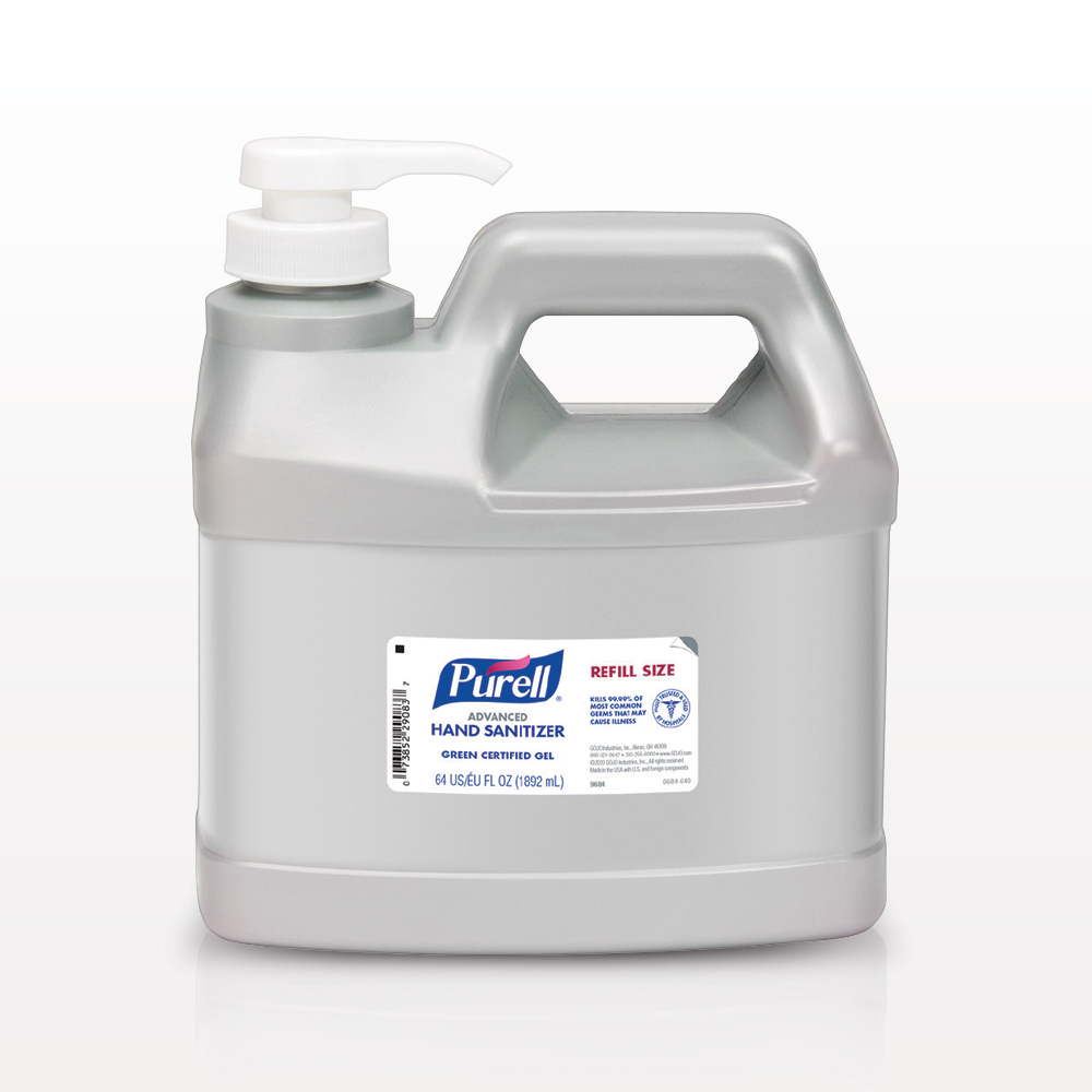 Purell® Advanced Green Certified Gel Hand Sanitizer, Half Gallon